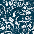 roleta: blue seamless flower pattern