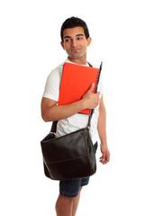 Student looking over shoulder