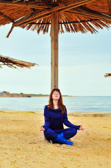 meditation near the sea