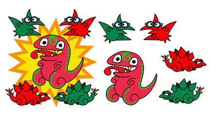 恐竜のキャラクタ−001