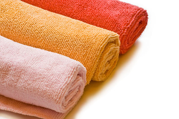 colored rags for cleaning. Microfiber