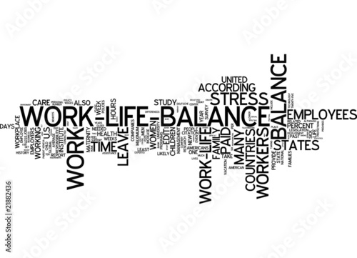 thesis about work life balance