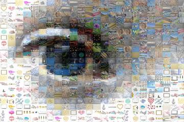 Oeil, mosaïque d'images
