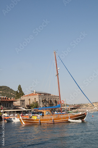 Sailing boat in Turkey
