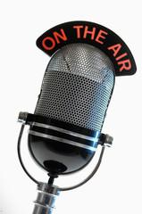 Altes Mikro 50'iger Jahre Karaoke und Rockmusik