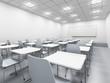 modern white classroom