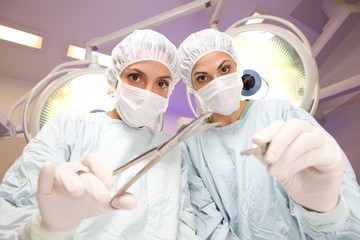 Two female surgeons