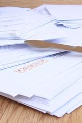 Envelopes and paper knife