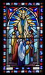Biblical Stained Glass Detail