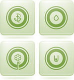 Olivine Square 2D Icons Set: Abstract poster