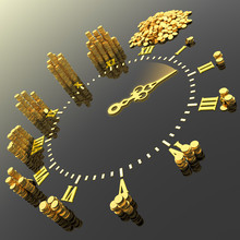 Czas to pieniądz. Hi-res generowanych cyfrowo obrazu.