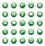 Vector icons for business metaphors poster