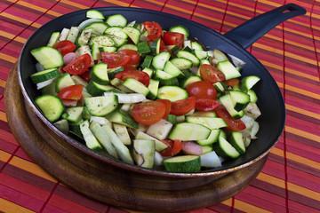 Zucchine Melanzane Pomodorini in Padella 01 04 10