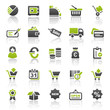 green finance business icons - set 4