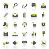 Fototapety green web internet icons - set 1