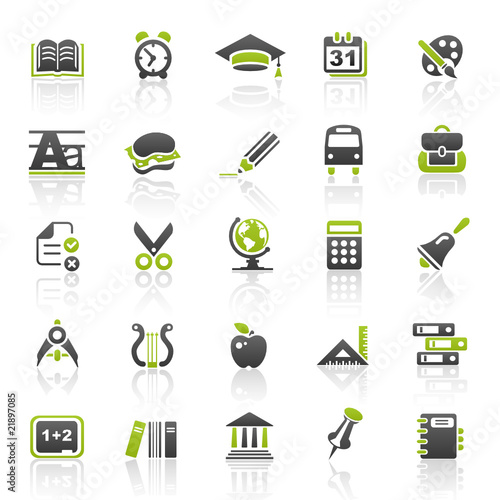 green education icons - set 5