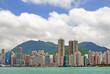 China, Hong Kong waterfront buildings