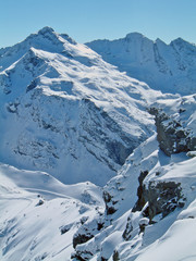 Mountain Snow Cliff - Val Thoren