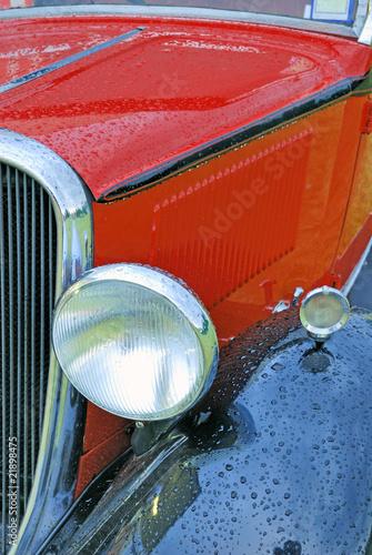 Vintage car headlamp