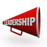 Leadership - Red Bullhorn