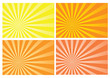 yellow and orange burst rays background