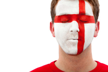English Flag - Male Face