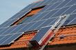 Solar electricity, goods lift