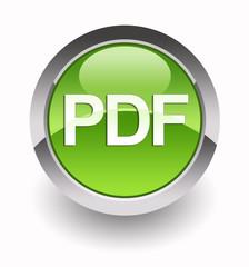 ''PDF'' glossy icon