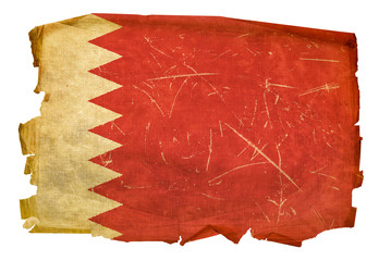 Bahraini Flag old, isolated on white background