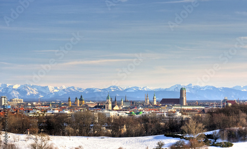 180° Panorama - Munich with alps