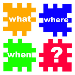 main questions in business and real life in the puzzle game, con