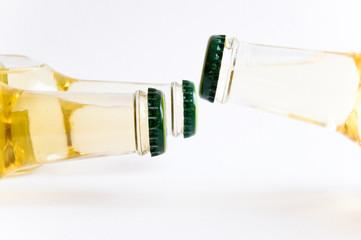 Drei Flaschen Alkohol