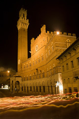Siena - Town-hall and Torre del Mangia