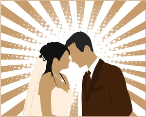 ..Married Couple - vector illustration..
