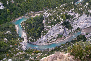 View to Verdon River (Grand Canyon in France)