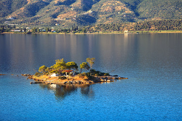Small island in Aegean sea, Poros, Greece