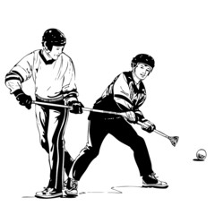 hockey, illustration