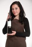 Female wine expert poster