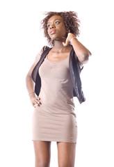 jeune femme en robe