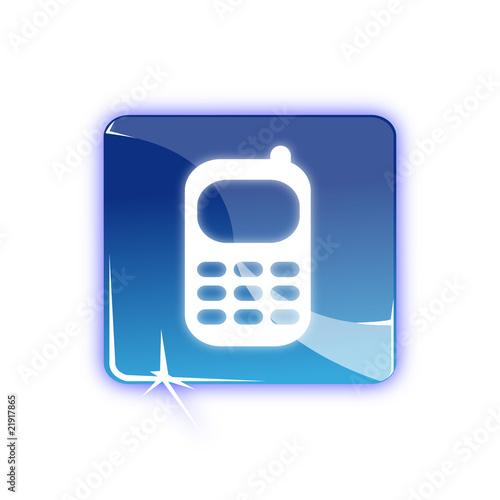 Picto telephone mobile - Icon mobile phone