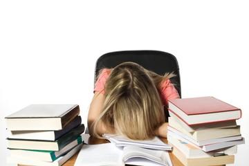 Bored girl student
