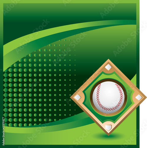 baseball diamond green halftone template