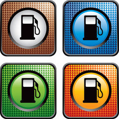 gas icon colored checkered web icons