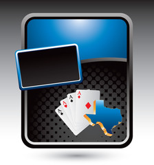 texas hold em blue stylized advertisement
