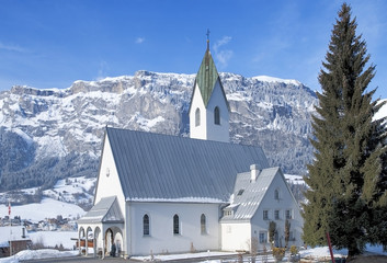 Swiss church in Flims Laax