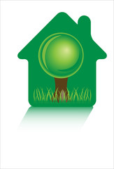 vector eco green home icons