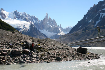 Tirolesa - Cerro Torre - Patagonia