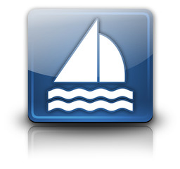 "Glossy Square Button ""Sailing"""