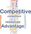 Competitive advantage background concept