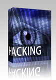 Hacking illustration box package poster